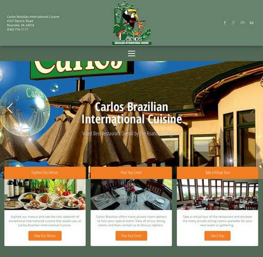 Carlos Brazilian Website Design