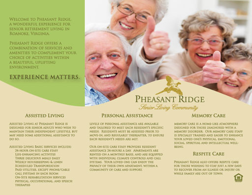 Pheasant Ridge Trifold Brochure Design