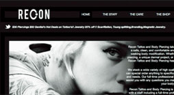 Recon Tattoo Website
