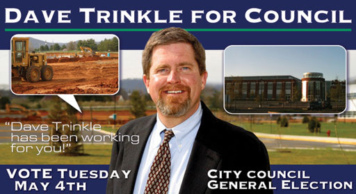 Dave Trinkle for City Council Postcard Design
