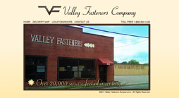 Valley Fasteners Website Deisgn