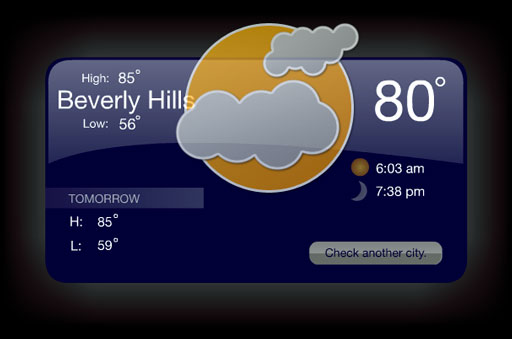 ActionScript 3.0 Weather Application